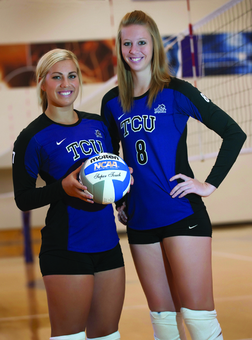 Joining forces: Volleyball competitors become teammates