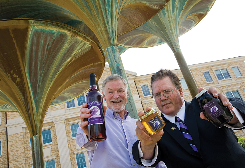 Honey of an idea . . .  Chris Leiss '82 and Ted Brack '84