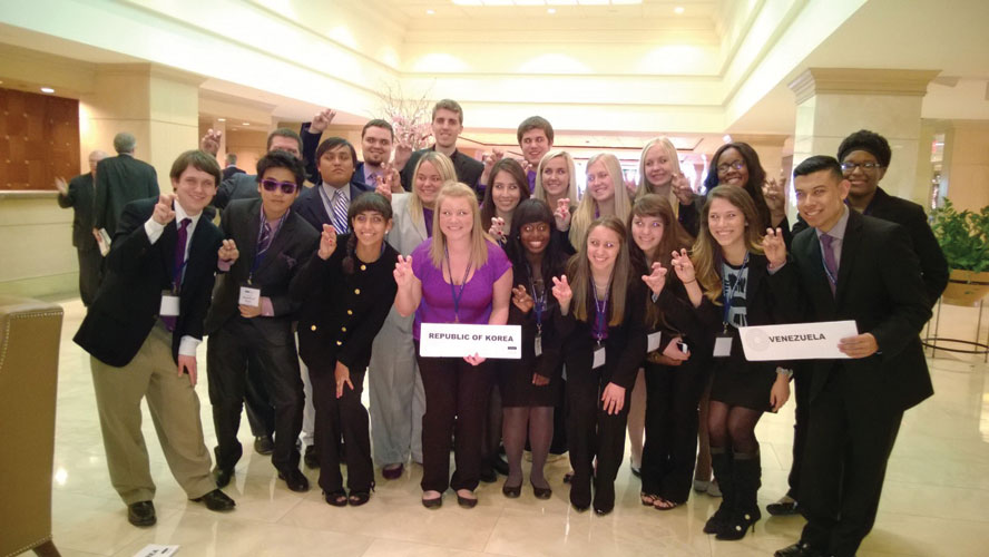 TCU students compete in Model UN conferences