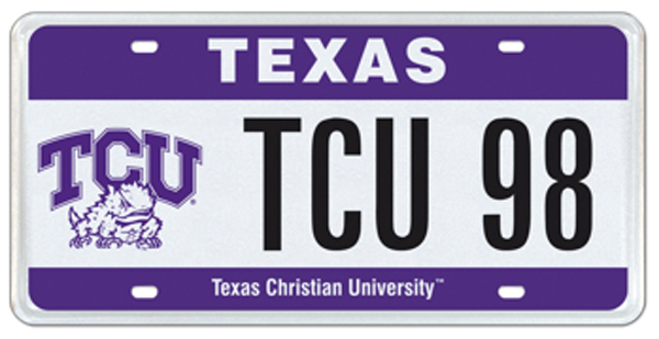 New TCU-themed license plate available